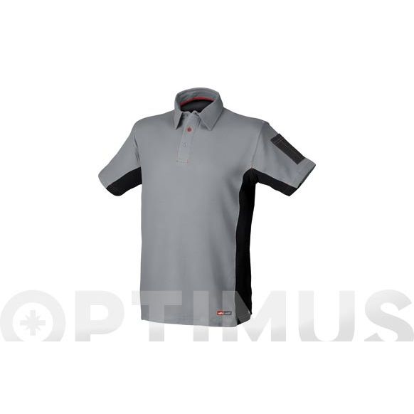 POLO STRETCH GRIS T-M STARTER