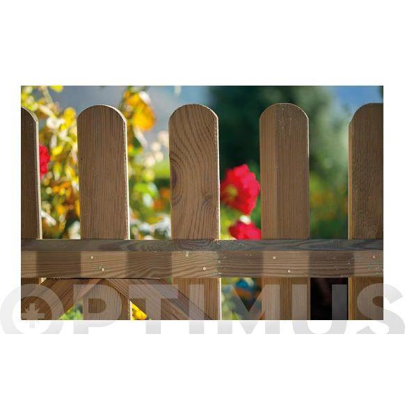 valla madera 100 x 210